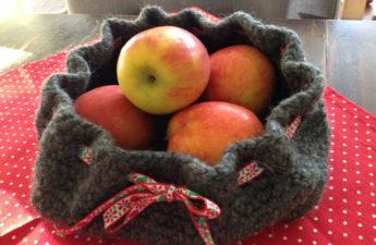 gehäkeltes Obstsäckchen aus Filzwolle