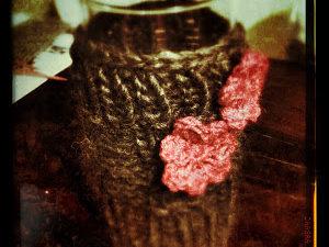 Strickhülle für Vase