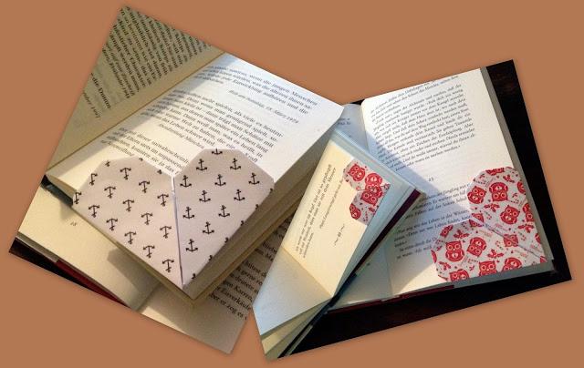 Lesezeichen Papier Herz