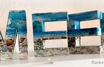 Noch ein Tag am Meer.. Dekopatch Buchstaben