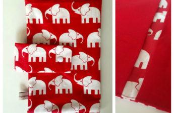 Wickeltasche mit Elefanten