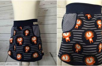 Rock´n Roll -  Jerseyröcke mit großer Tasche
