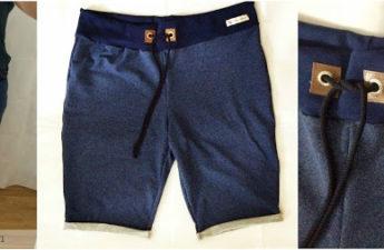 Shorts aus Sweatstoff