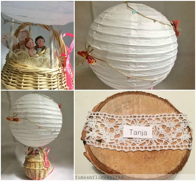 Geldgeschenk Hochzeit Heißluftballon