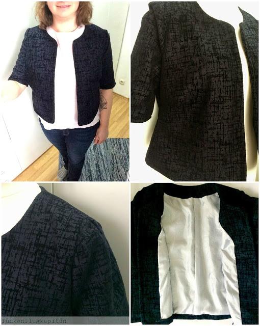 Blazer Kurz Jacke schwarz