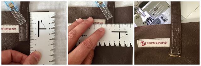 Nähanleitung einfacher Lederbeutel