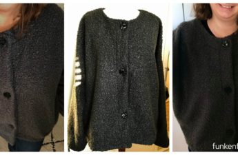 Adelaid Woven Jacket Style Arc Boucle grau