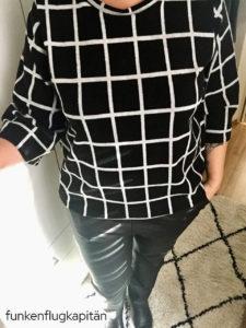 Anike Kibadoo beschichtete Baumwolle schwarz