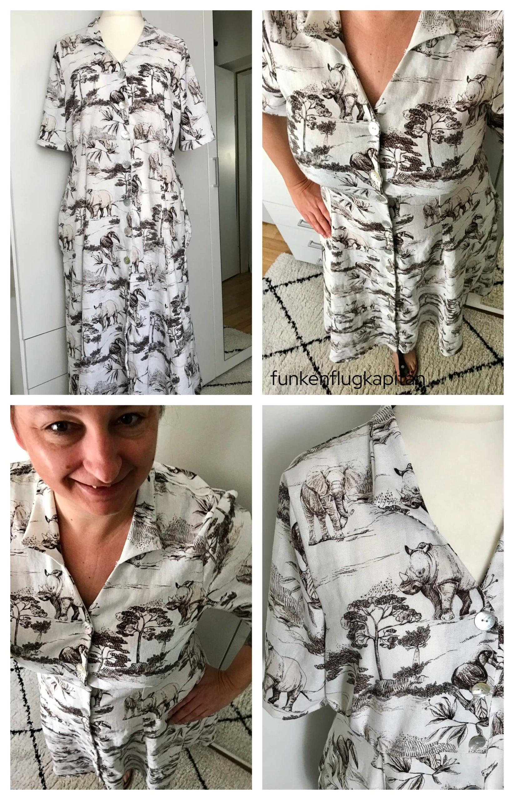 Armidale Dress Style Arc Leinenviskose Milliblus Safari