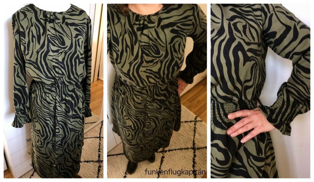 Asha Dress Style Arc Stoff Zebra khaki Mind the maker