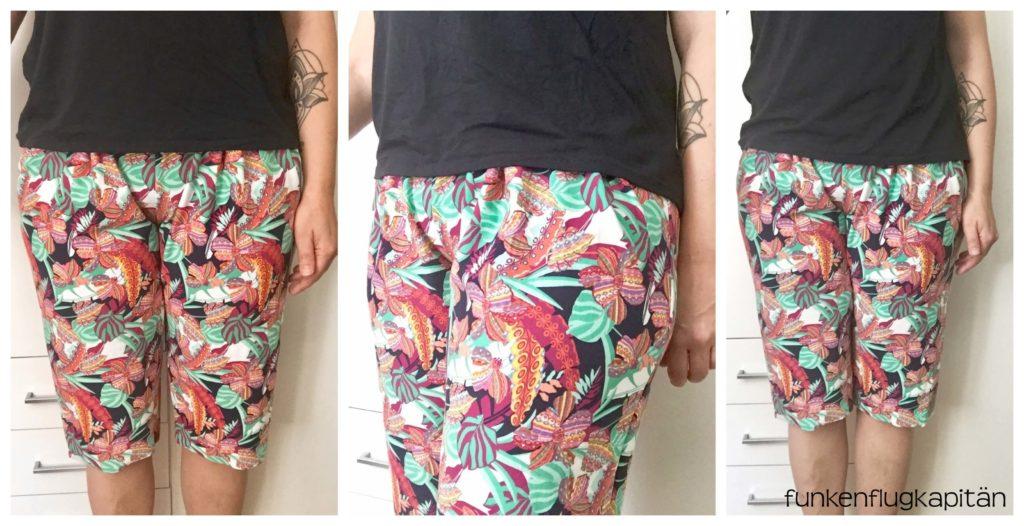 Rock und Shorts im Hawaii Muster