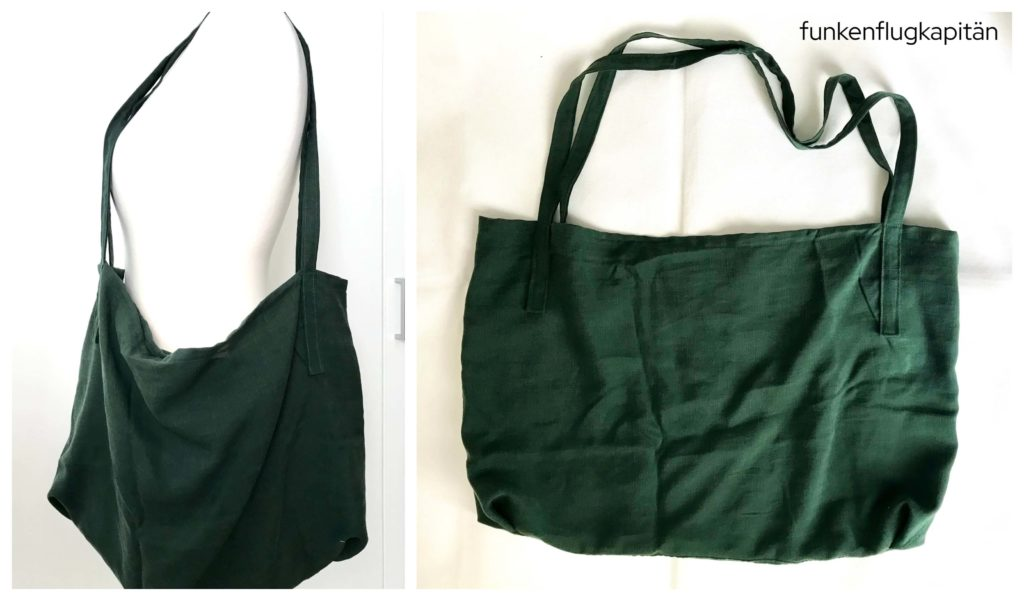 Beutel Tasche Leinen grün