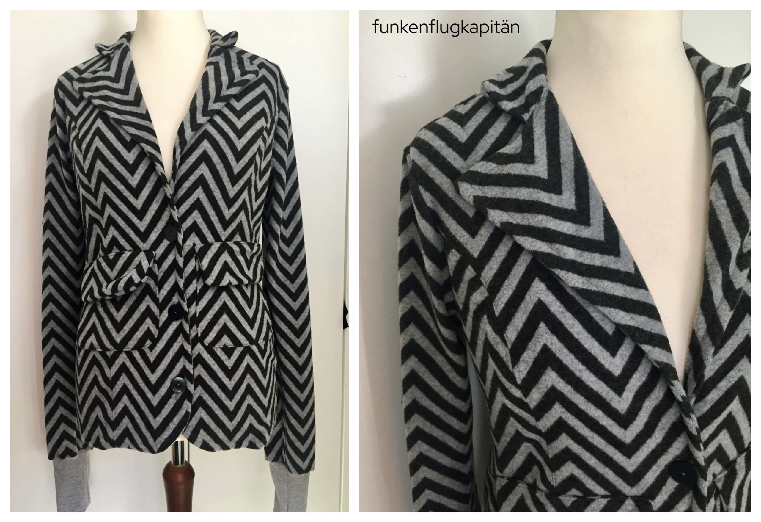 Blazer die Komplizin Sweat Chevron