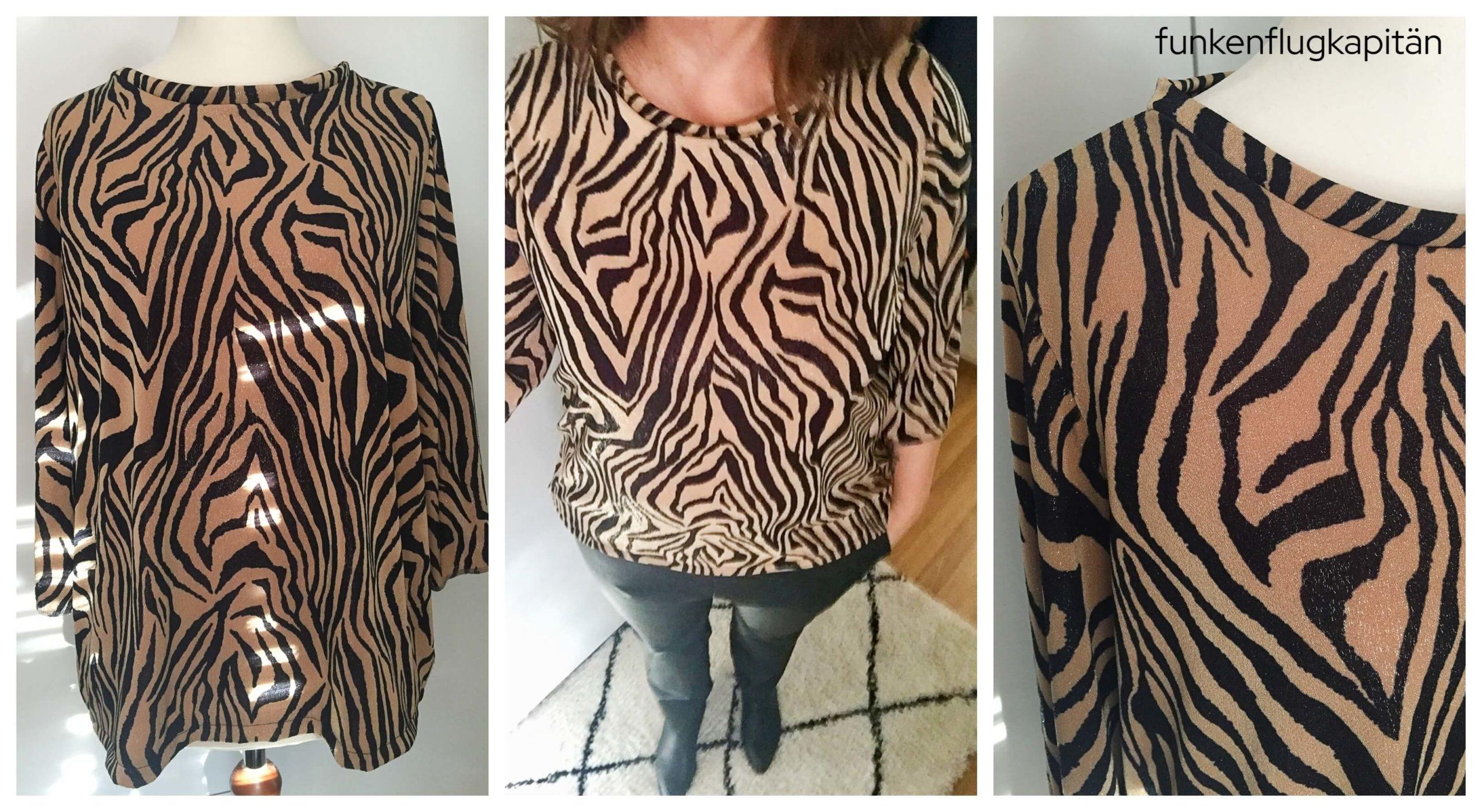 Holly Studio Schnittreiff Viskose Jersey Zebra