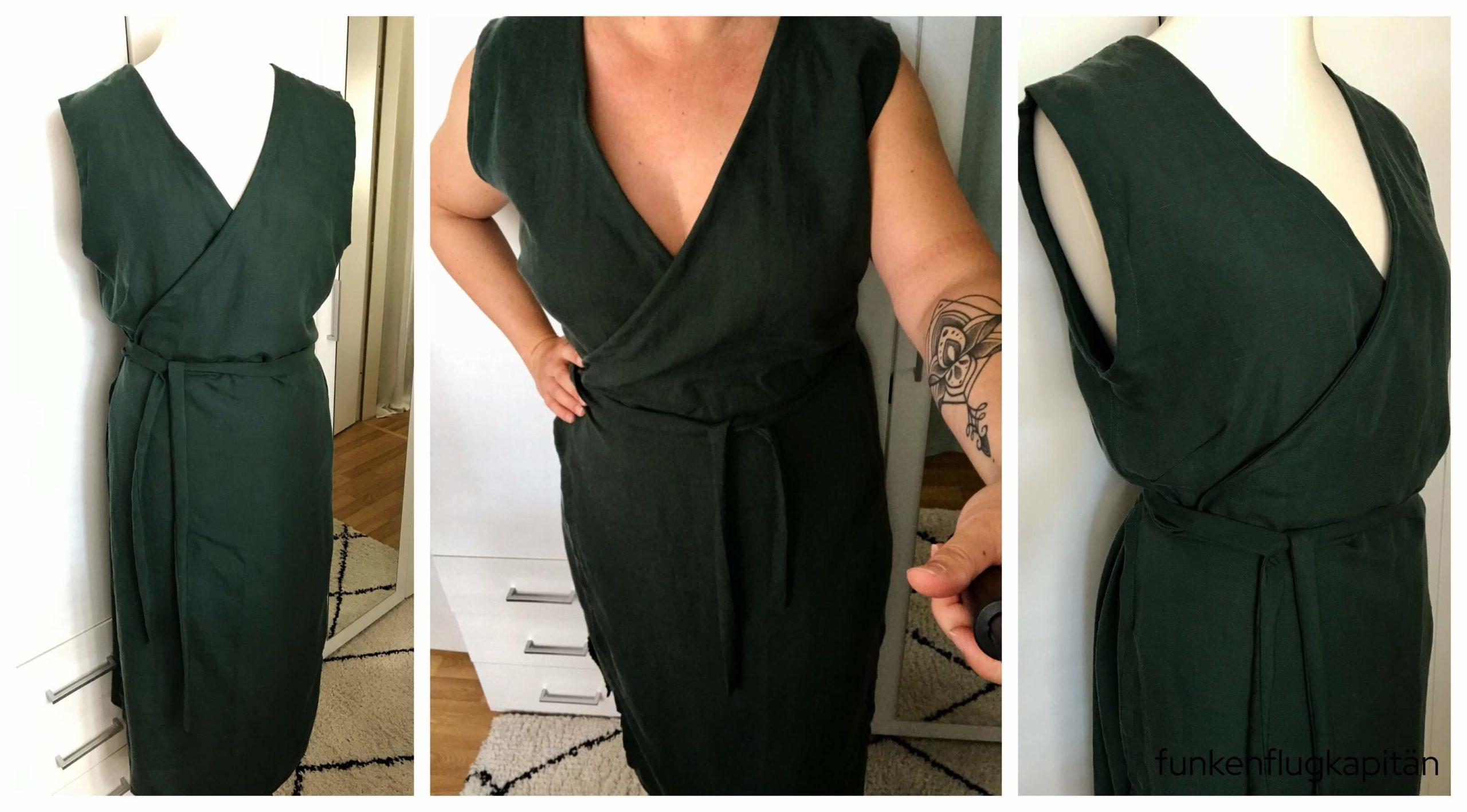 Juni Design Kleid No 7 Leinen grün