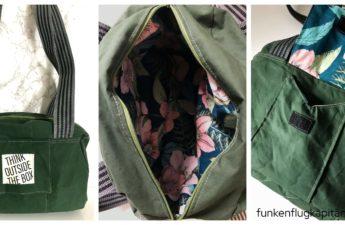 Just Be Adventskalender Tasche Farbenmix dry oilskin grün