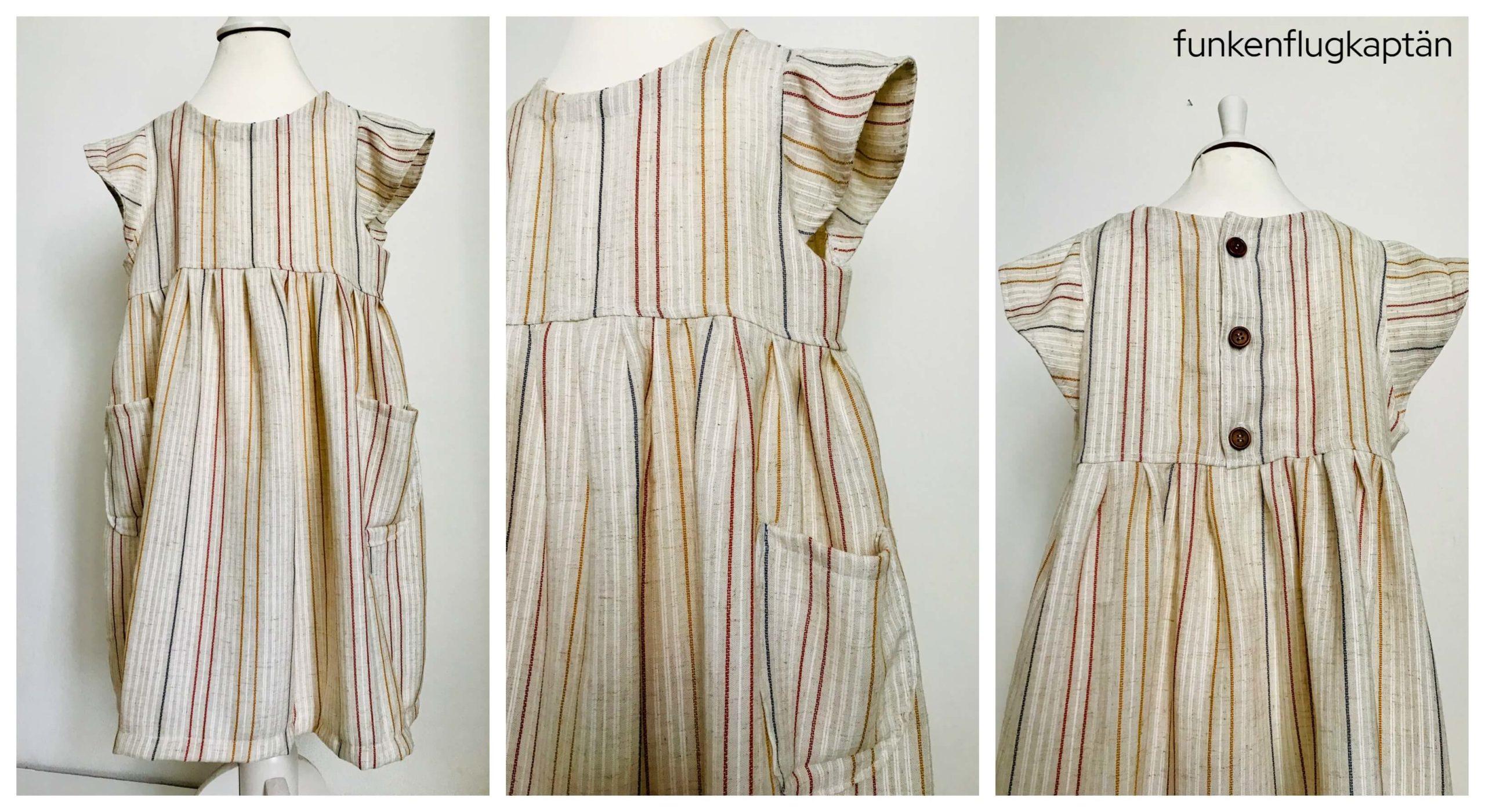 Kleid Juna Lybstes Viskoseleinen Streifen