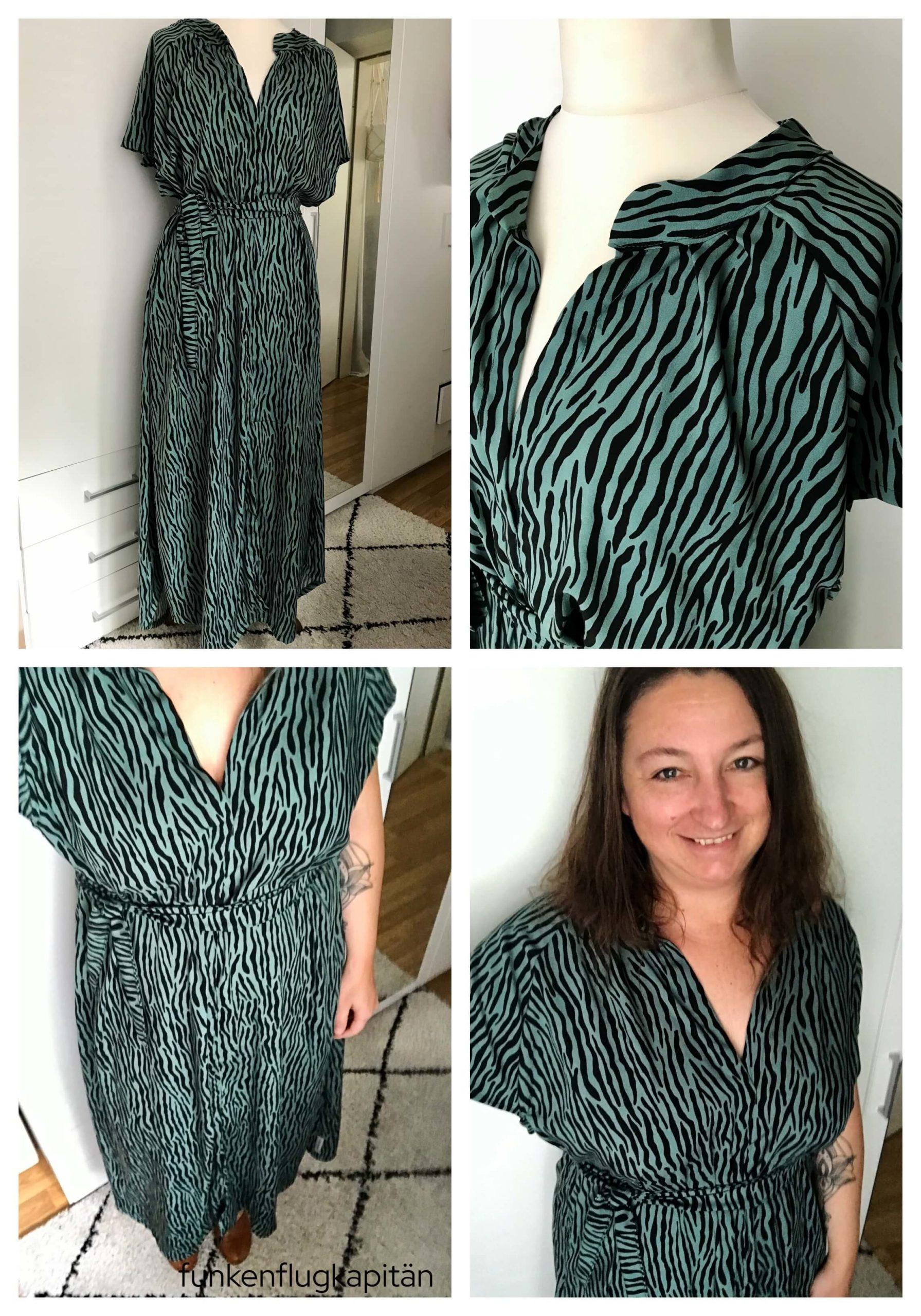 Kleid No 19 Juni Design Viskose Leo grün
