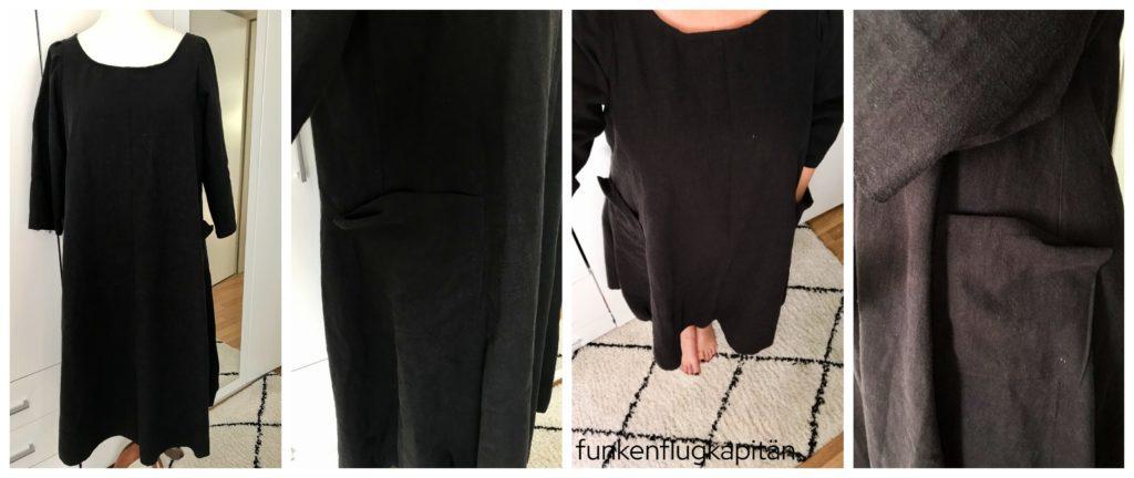 Lily Dress Tessuti Fabrics Leinen Schwarz
