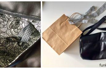Mach dein Ding Initiative Handarbeit Crossbag Kunstleder Schwarz
