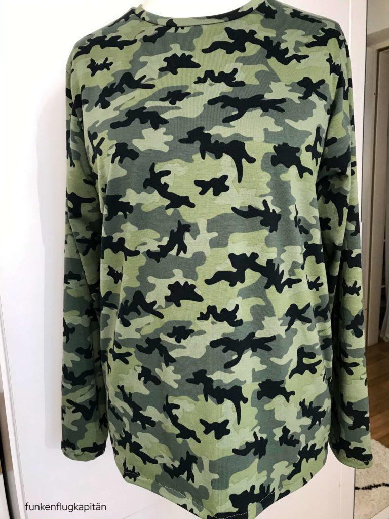 Männer Sweatshirt Windschnittich Camouflage