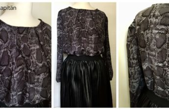 Office Blouse soseweasy Chiffon Schlangenmuster