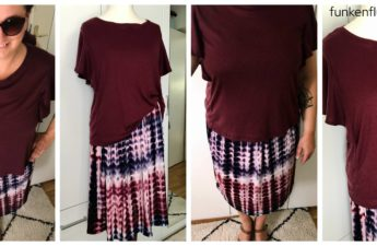 Posie Knit Top Style Arc bordeaux Rock Batik Viskosejersey