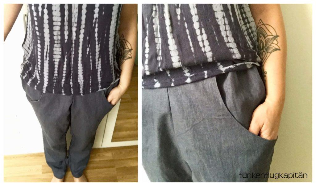 Schnittmuster für Hose mit seitlichen Taschen