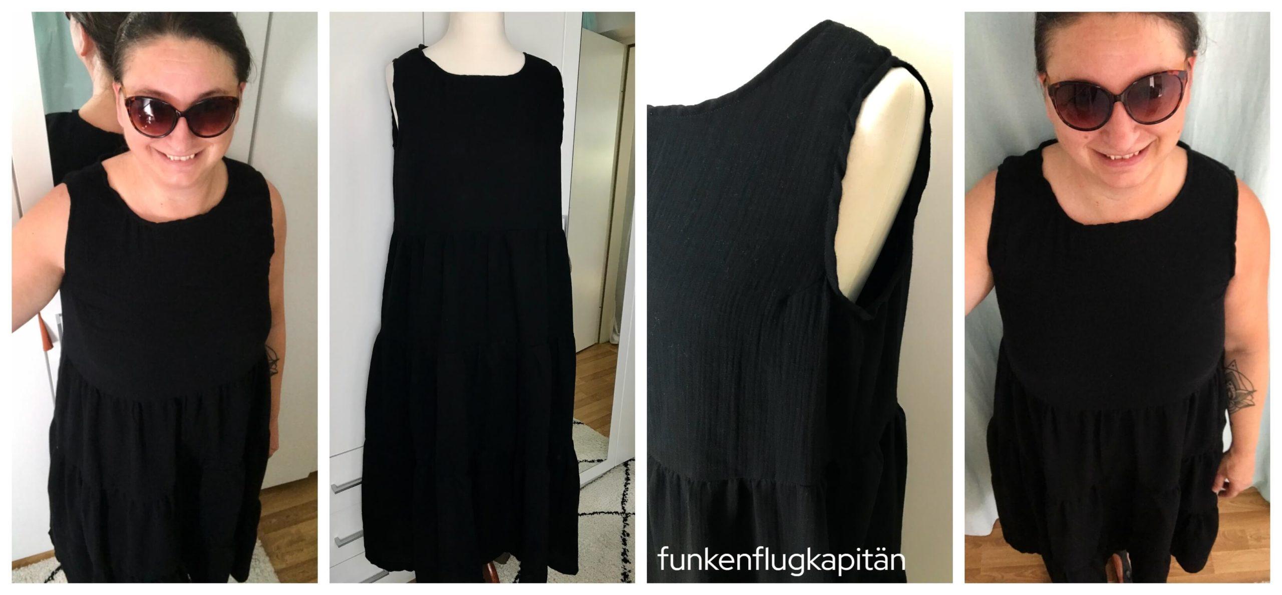 Nova Midi Dress Style Arc Musselin schwarz