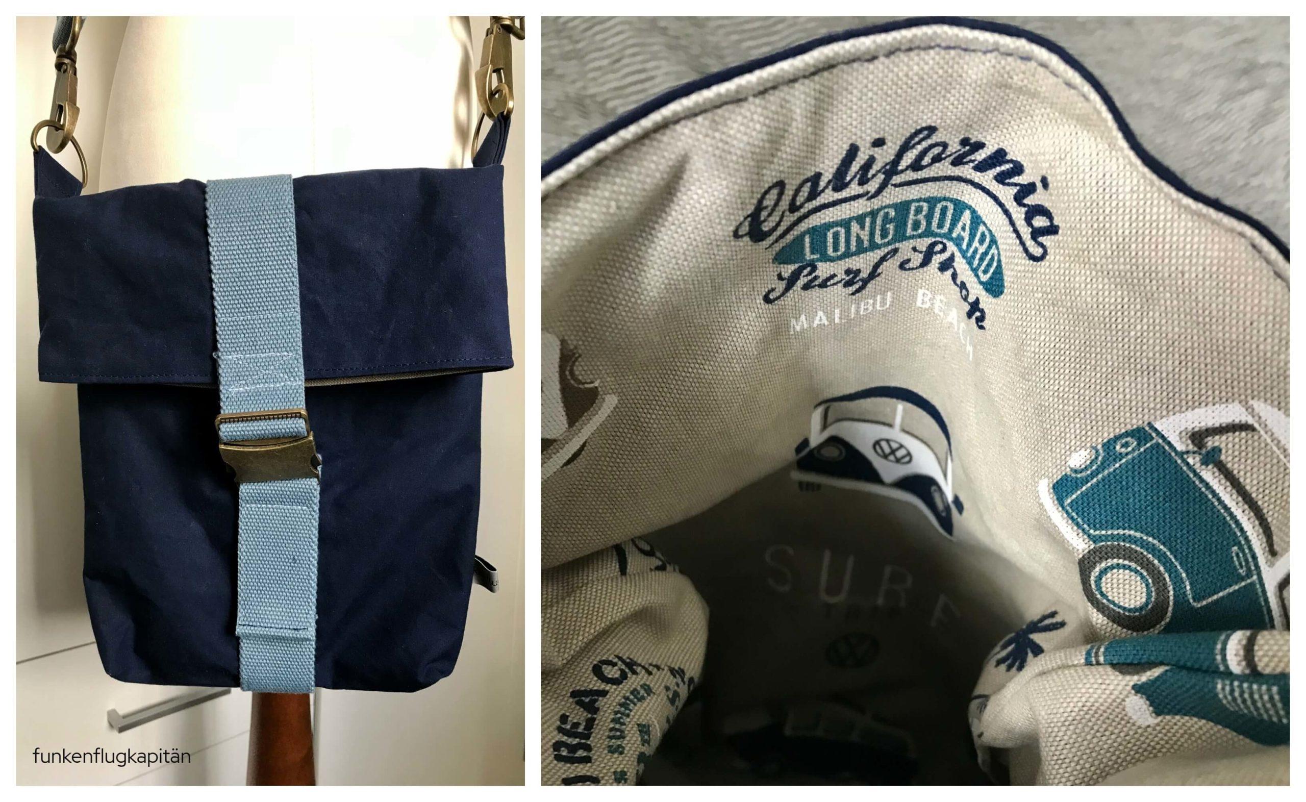 Tasche Paulchen von meine Schnitte Dry Oilskin blau