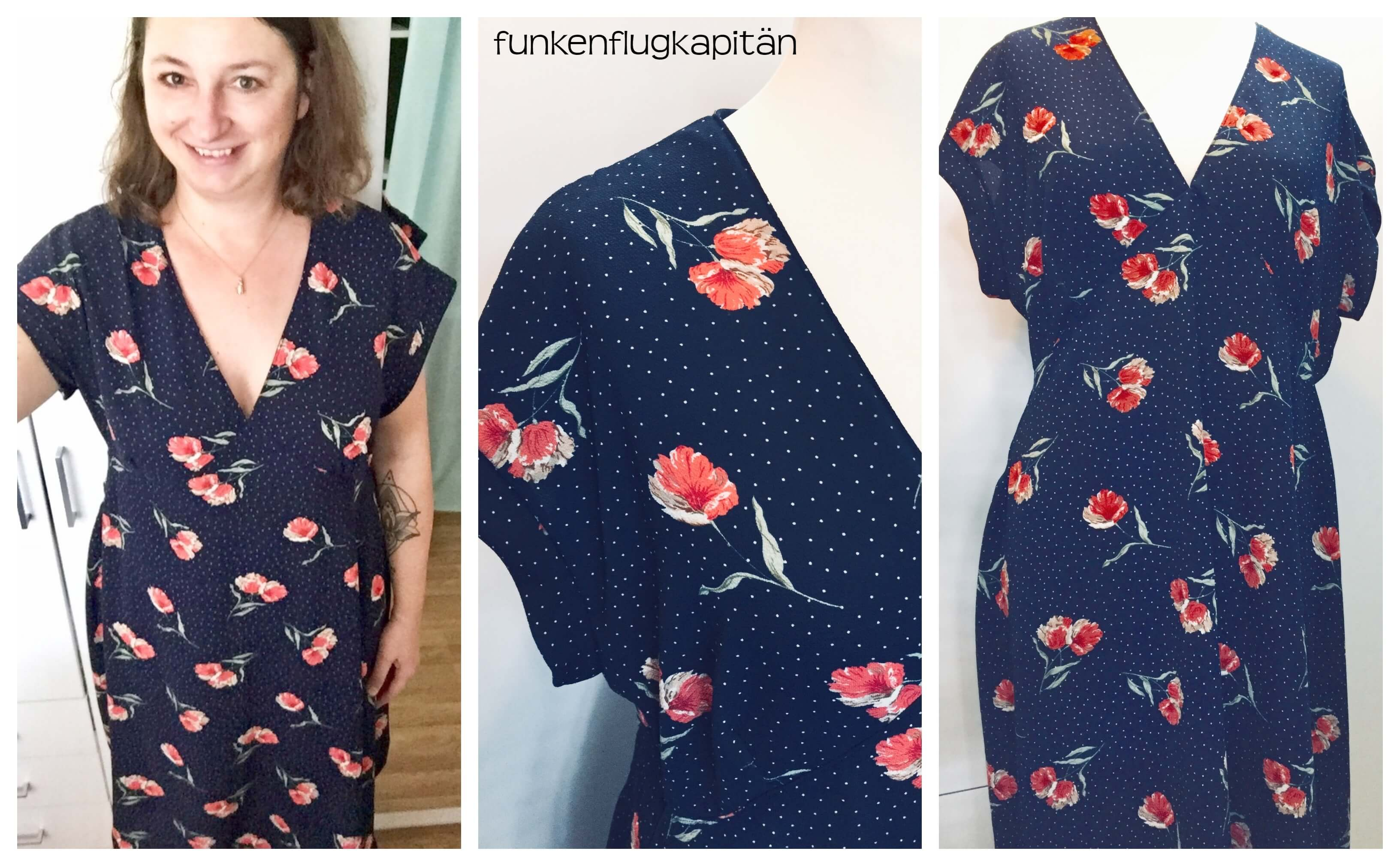 Kleid Chiffon V-Ausschnitt