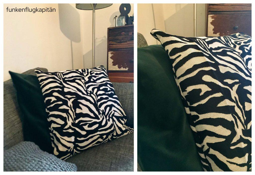 neue Kissenhüllen Samt Zebra